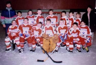 Les petits Diables : poussin 1994-95 entraîneur : M. Haran