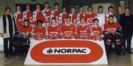 Valenciennes senior 1994-95 entraîneur : M. Carlier