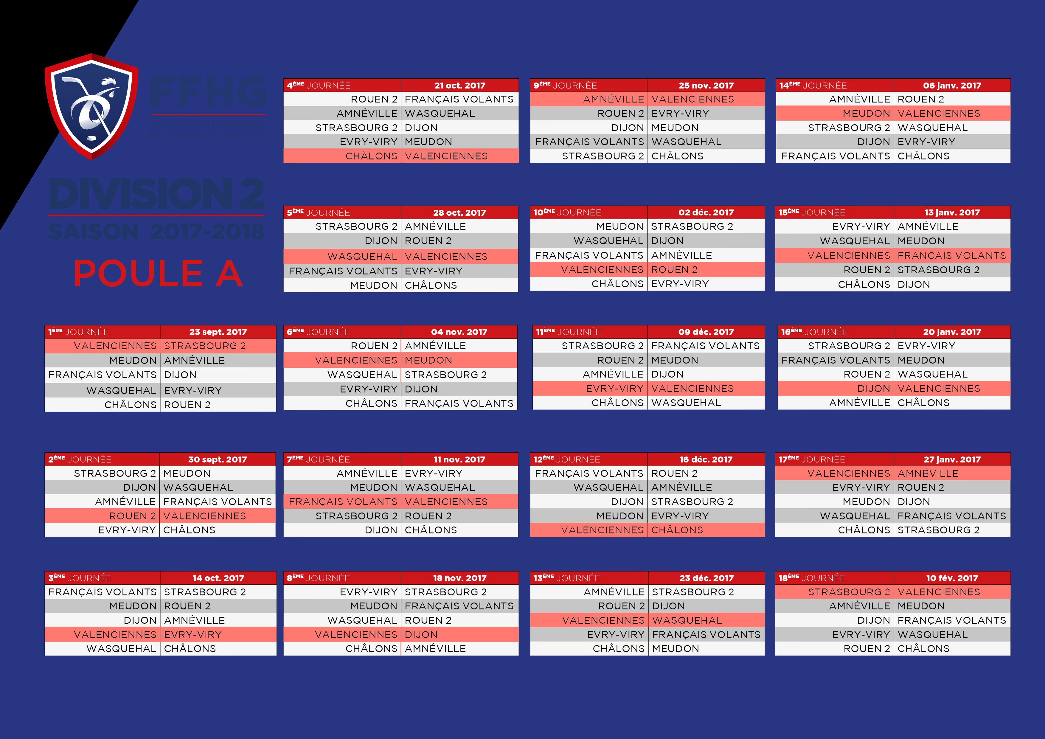 Hockey Rouen Calendrier.Matchs Championnat D2 Vhhc