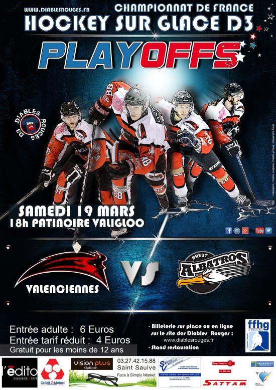 Affiche Playoffs Brest 19 mars 2016