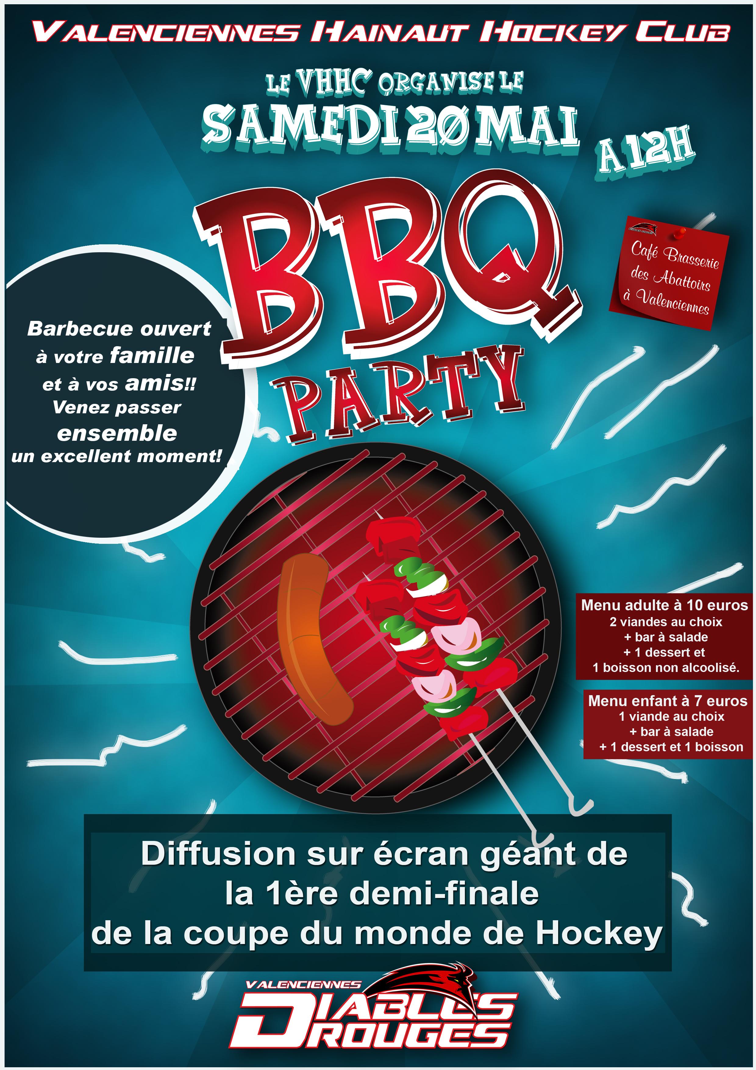 BBQ party ce samedi 20 mai !