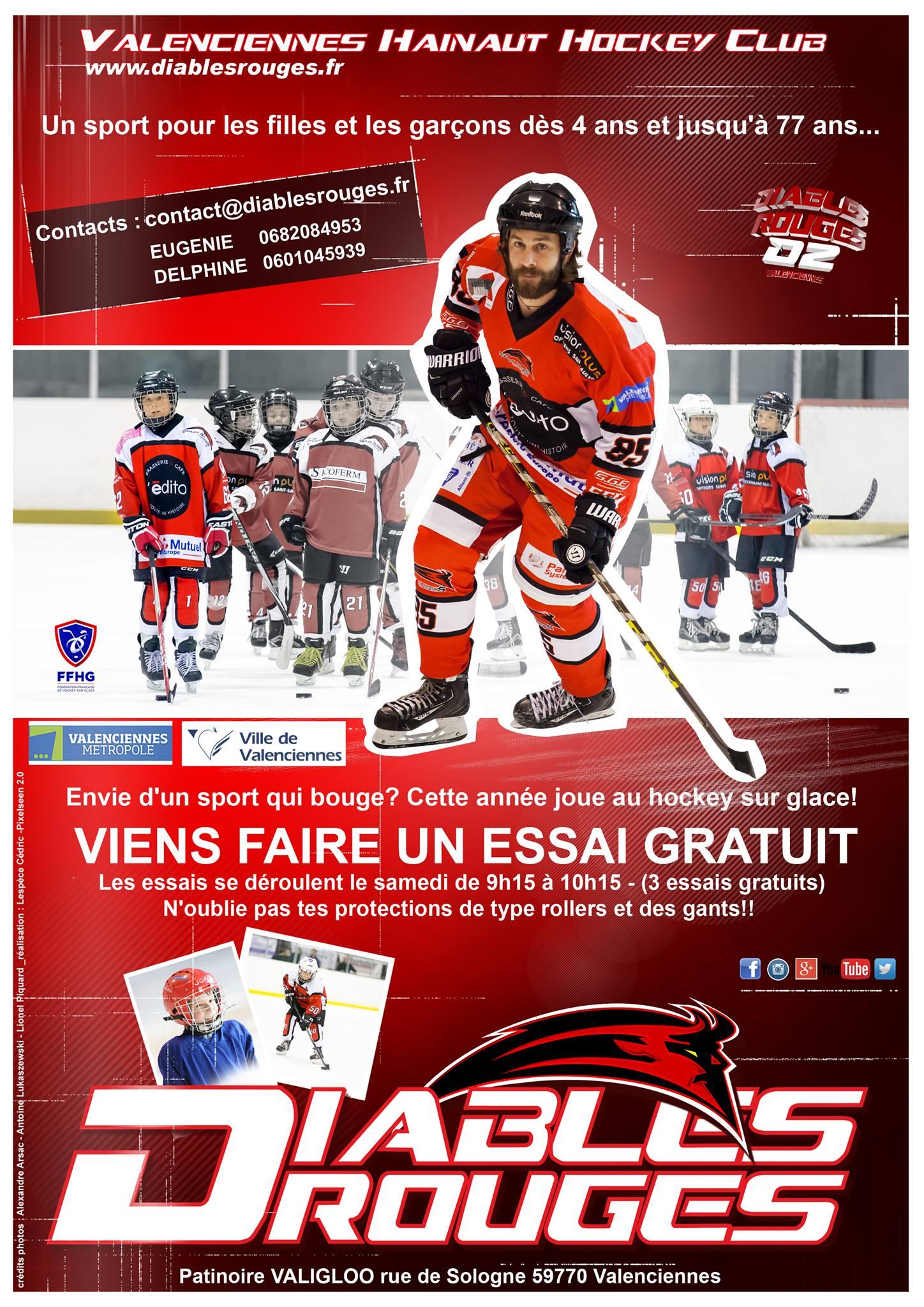 Viens essayer le hockey sur glace à Valenciennes !