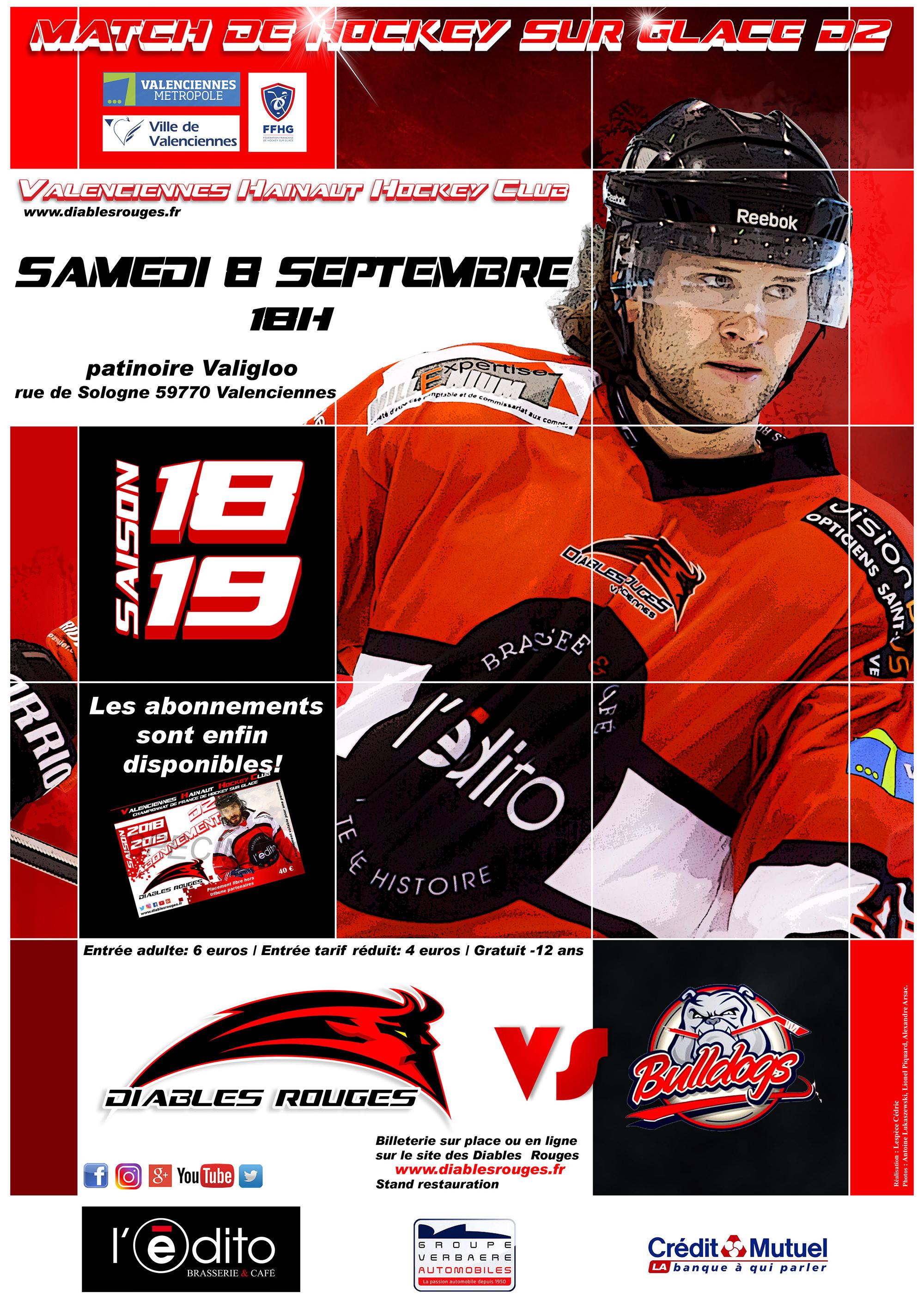 Match amical ce samedi 08 septembre face aux Bulldogs de Liège