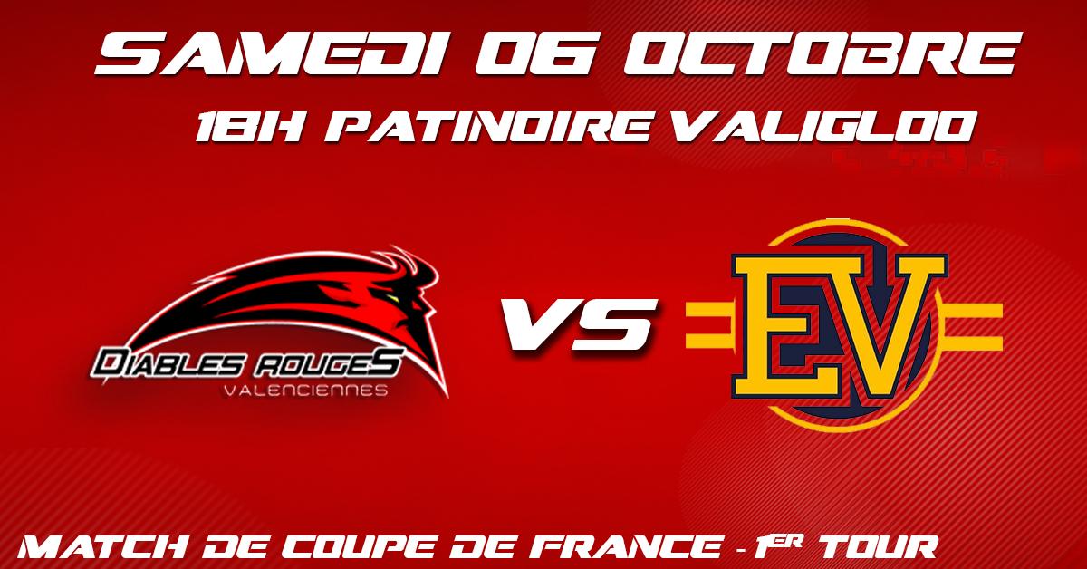 Valenciennes reçoit Évry-Viry ce 06 octobre pour le premier match de coupe de France