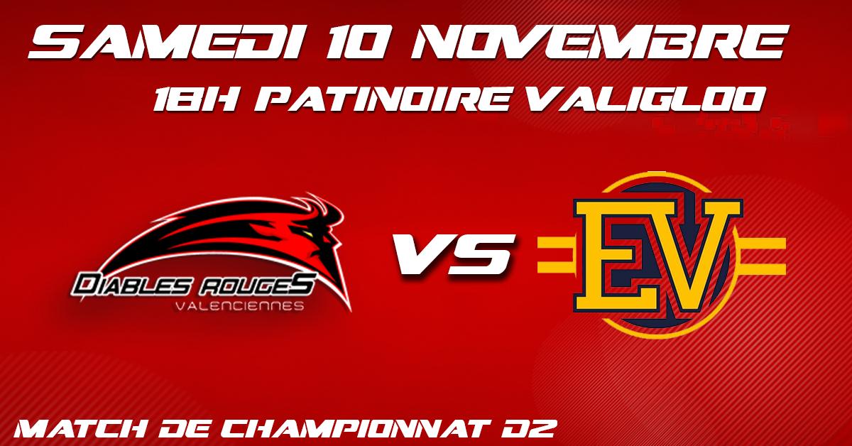 Valenciennes reçoit Évry/Viry ce samedi 10 novembre