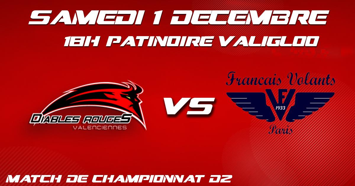 Valenciennes reçoit les Français Volants ce samedi 01 décembre