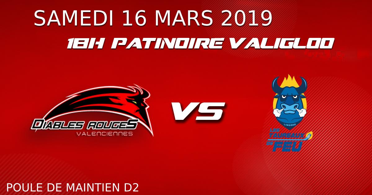 Valenciennes reçoit Limoges ce samedi 16  mars – match de maintien en D2