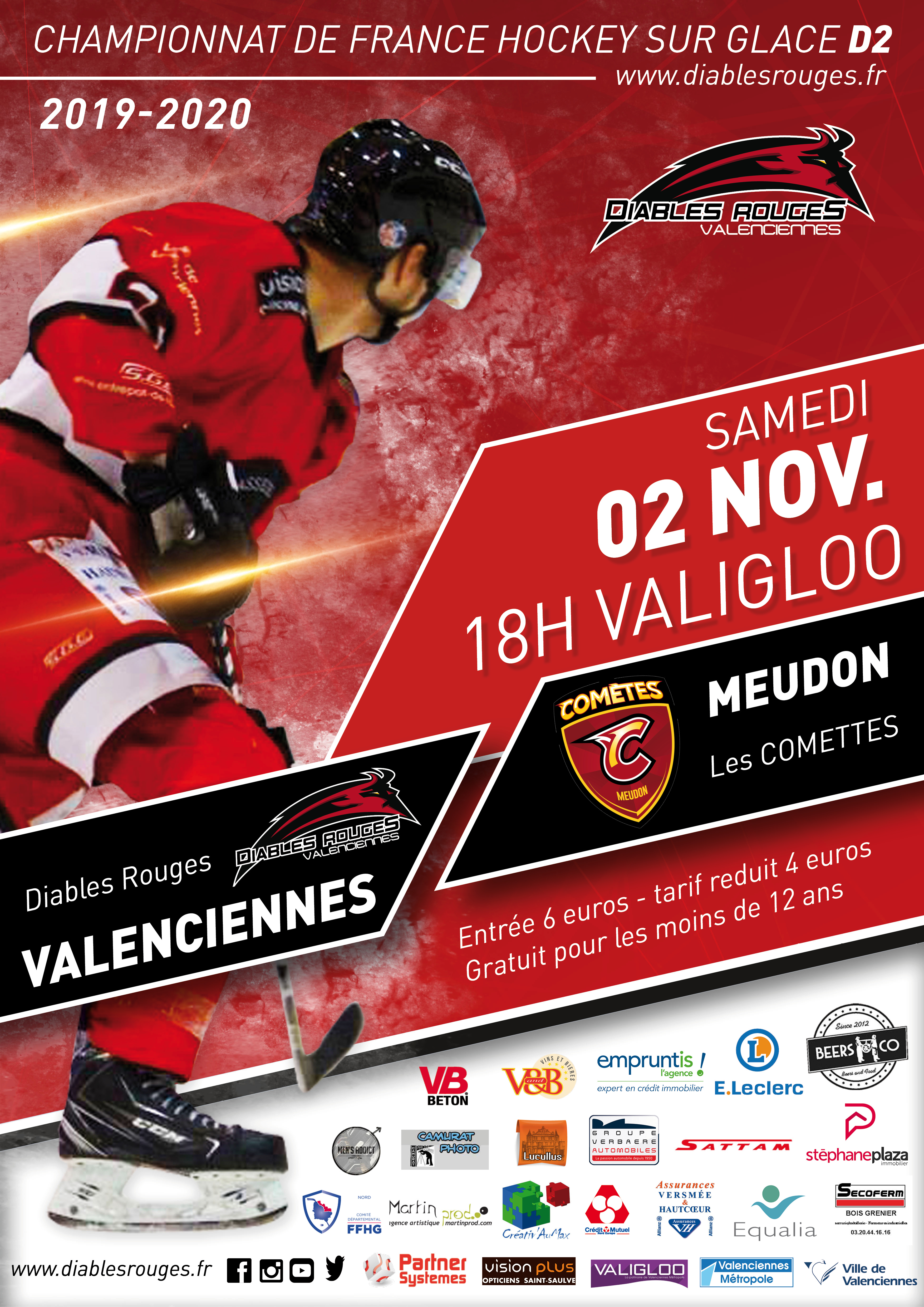 Valenciennes reçoit Meudon ce samedi 02 novembre 2019
