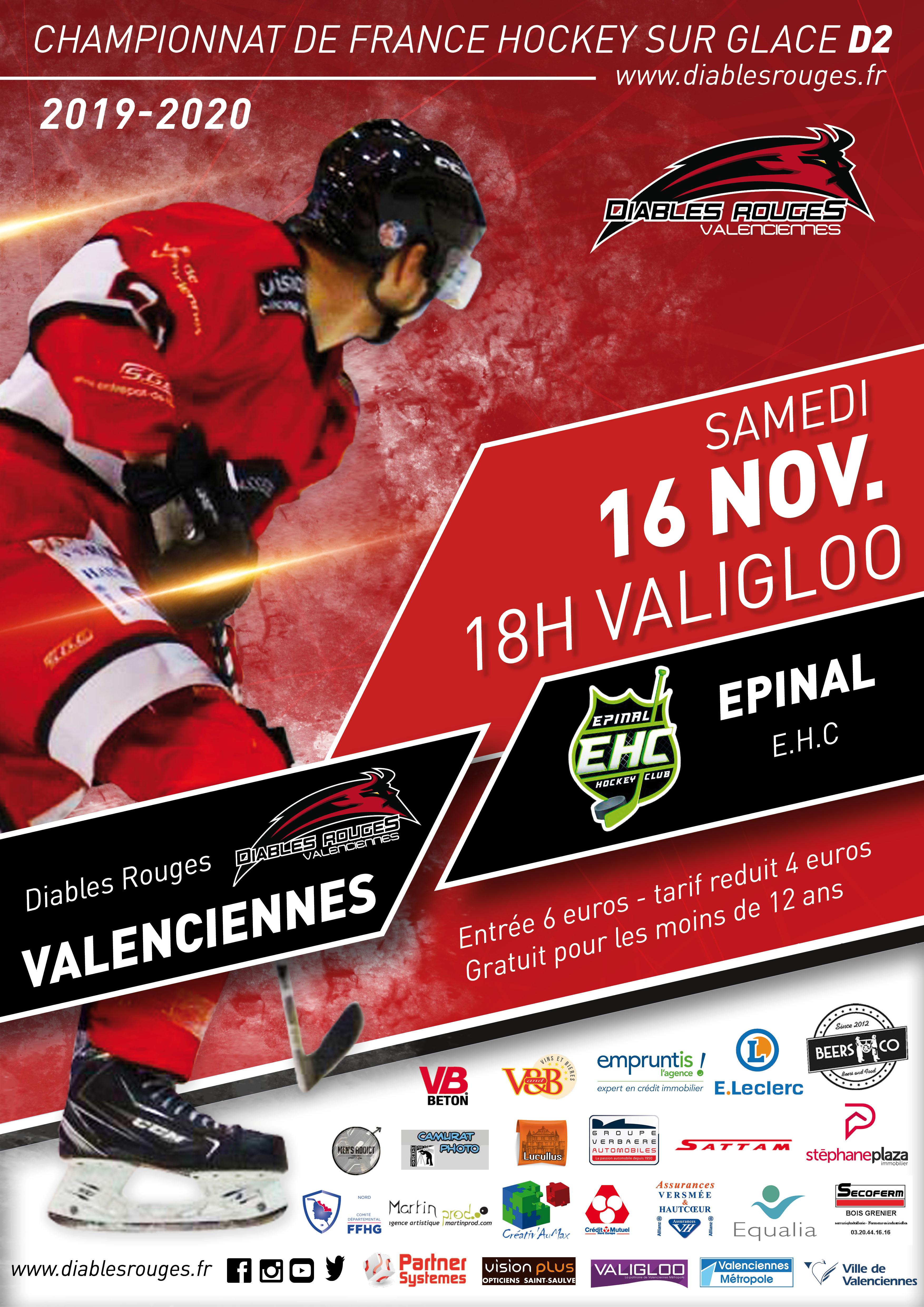 Valenciennes reçoit Epinal ce samedi 16 novembre 2019