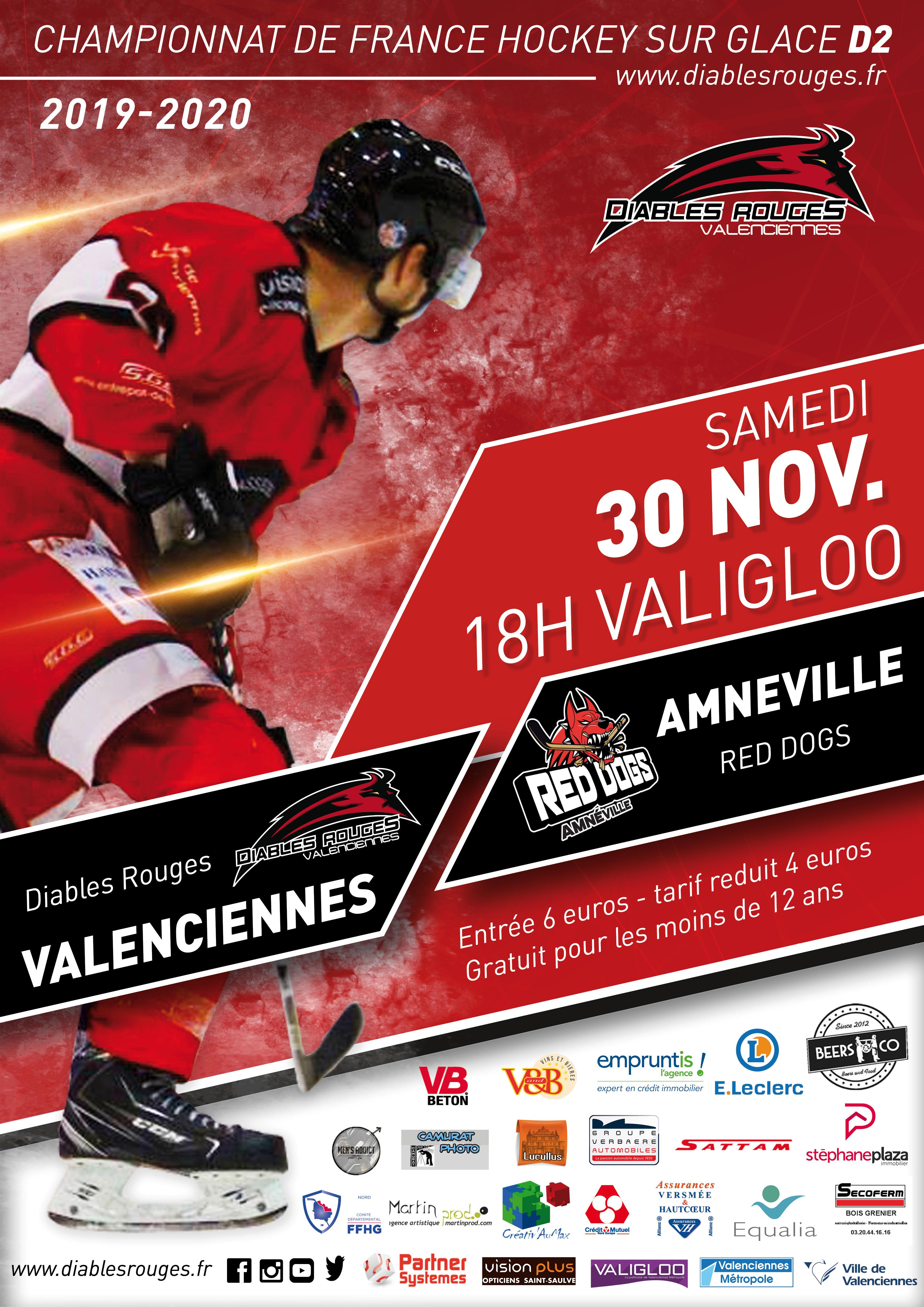Valenciennes reçoit Amneville ce samedi 30 novembre 2019