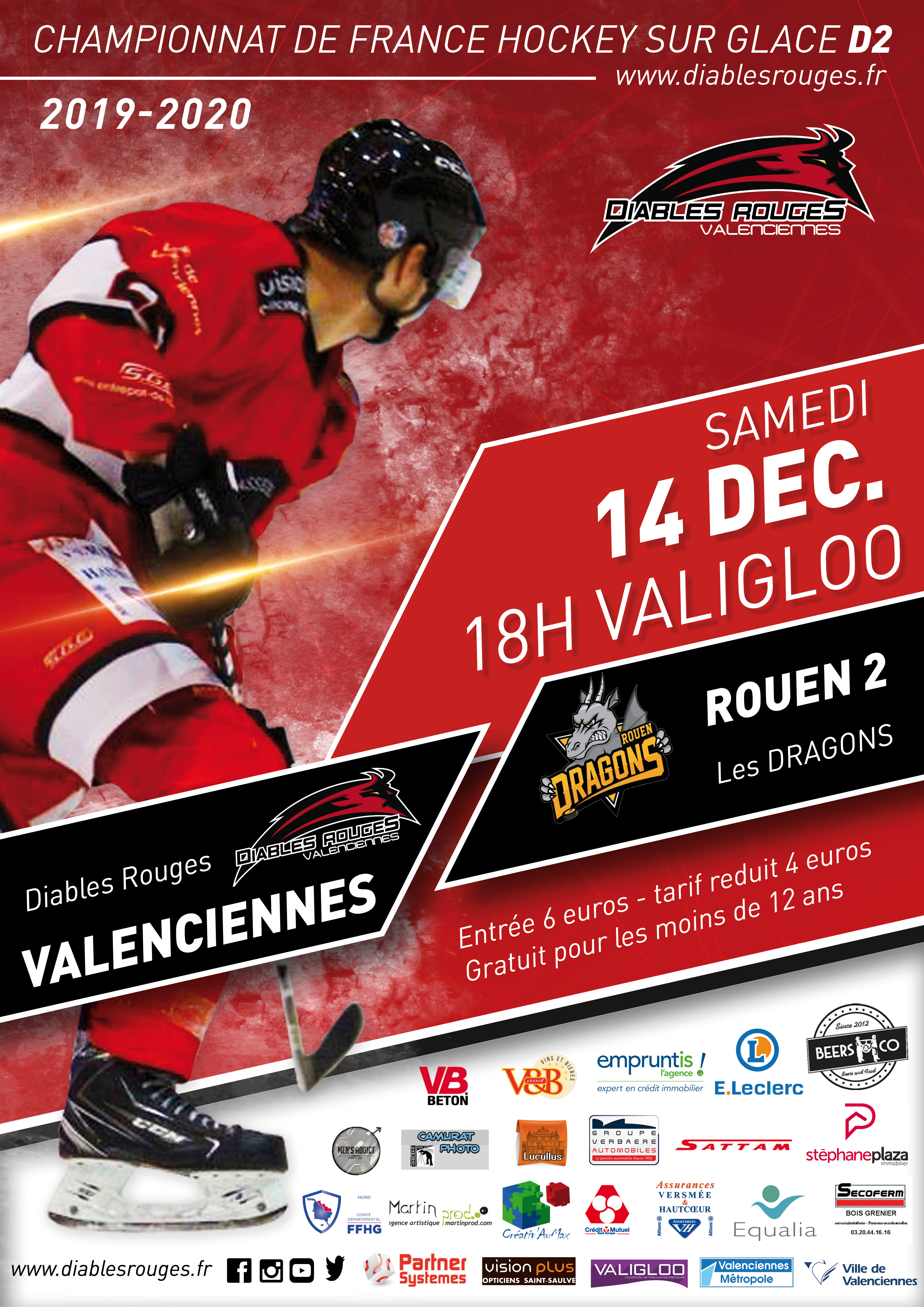 Valenciennes reçoit Rouen² ce samedi 14 décembre 2019