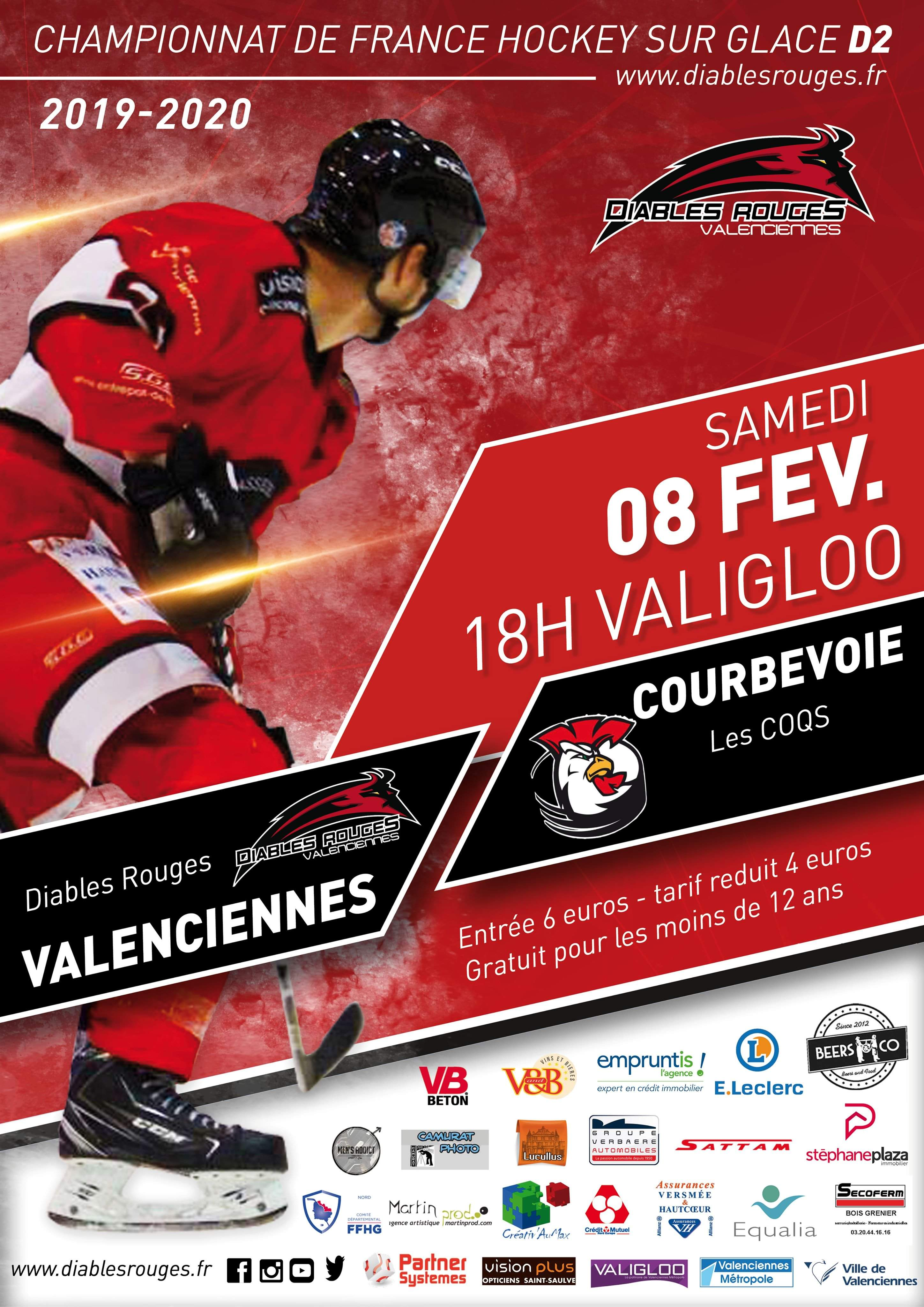 Valenciennes reçoit Courbevoie ce samedi 08 février 2020